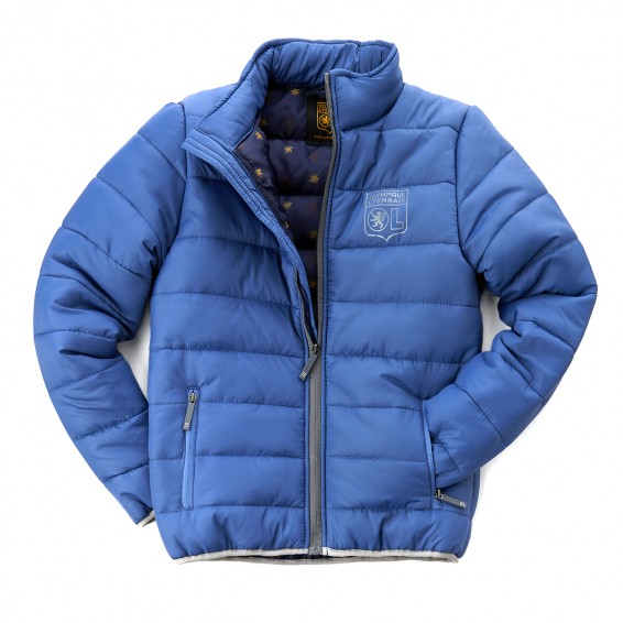 Junior Blue/Grey Padded Jacket