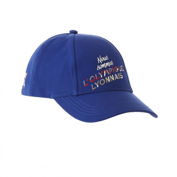 Adult Olympique Lyonnais Relief Cap Royal Blue 2017/2018