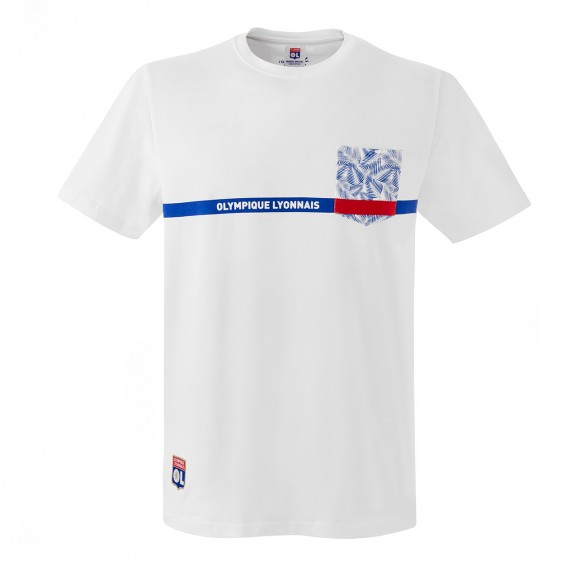 Junior Olympique Lyonnais White Patchwork T-Shirt