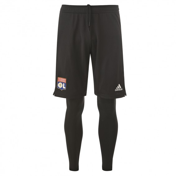 Black training pants 2in1 OL Adult 2018-19