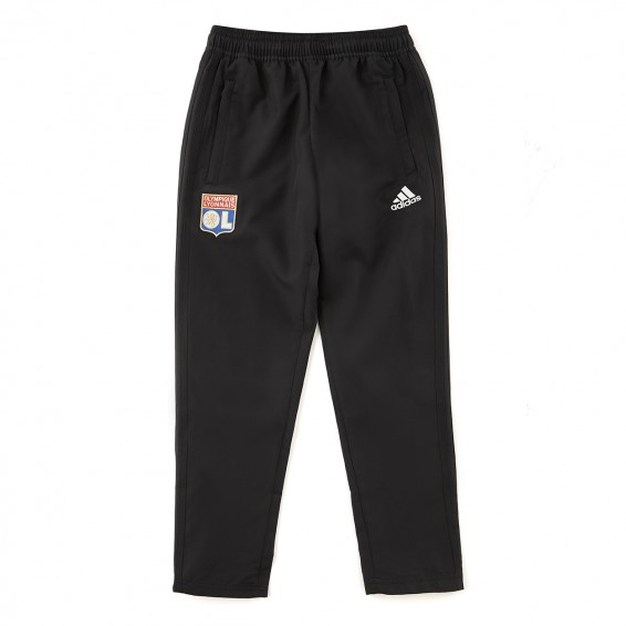 Junior Black Adidas Olympique Lyonnais Tracksuit Pants 2018/2019