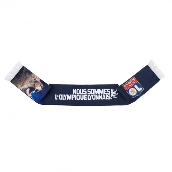 Fighting Spirit Olympique Lyonnais Sublimated Scarf