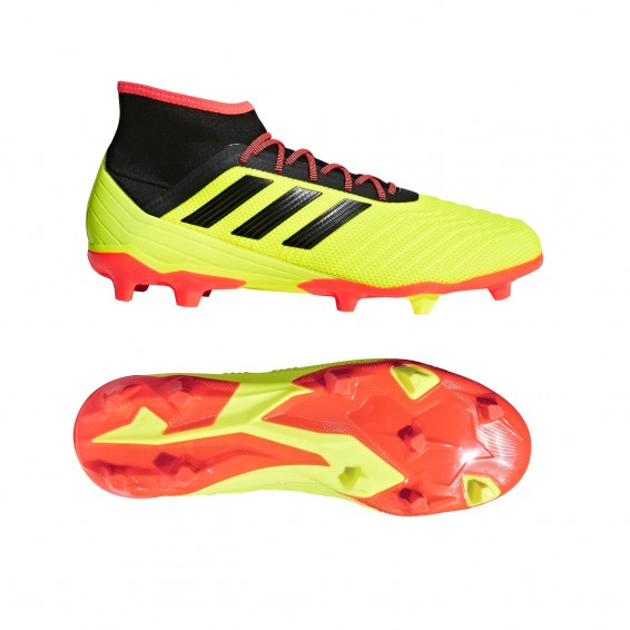 Adult Yellow adidas Predator 18.2 Firm Ground Shoes 2018/2019