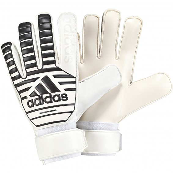 White/Black adidas Classic Training Goalkeeper Gloves 2018/2019