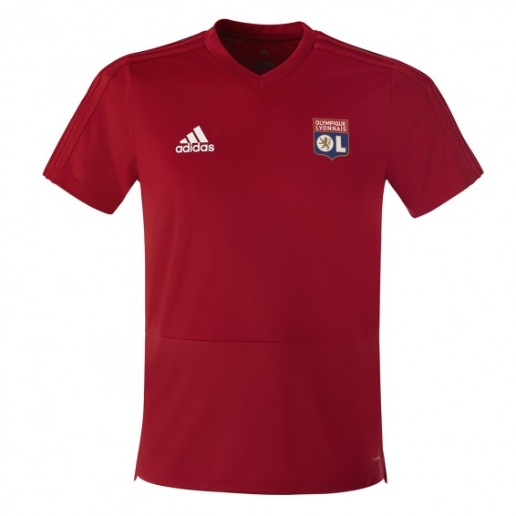 Junior Adidas Olympique Lyonnais Red Training T-shirt 2018/2019