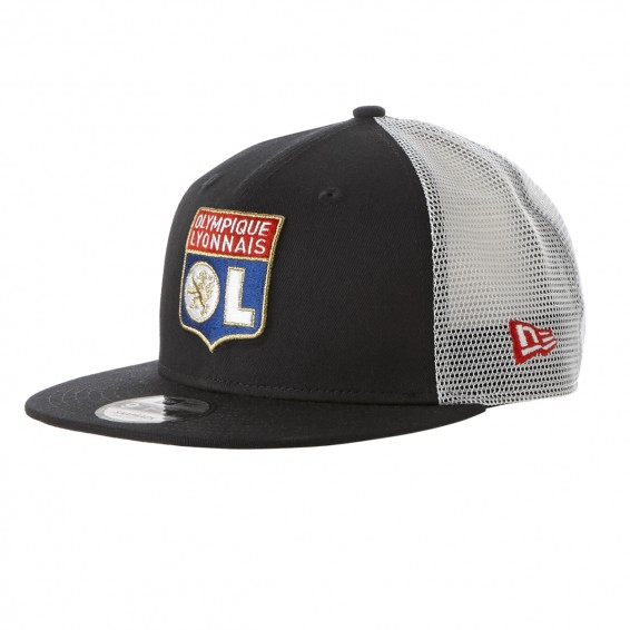 Adult New Era x Olympique Lyonnais Navy Blue & White Cap