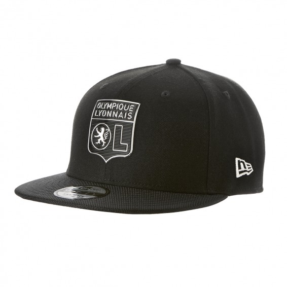 Adult New Era x Olympique Lyonnais Black Snapback Cap