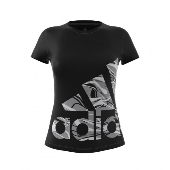 adidas Women's Black Adult T-Shirt Logo