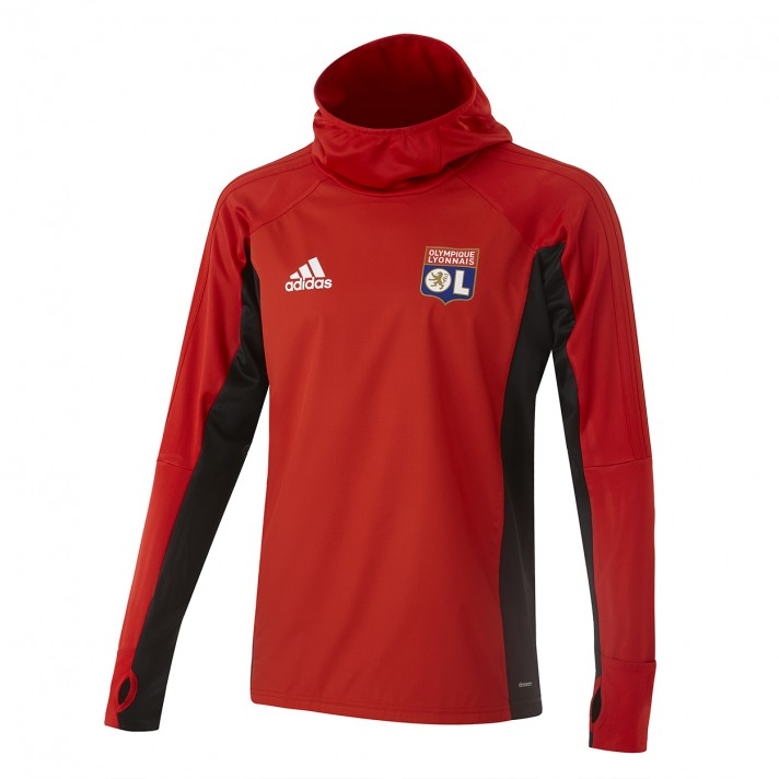 Sweat hiver entrainement OL Adulte Rouge 2018-19