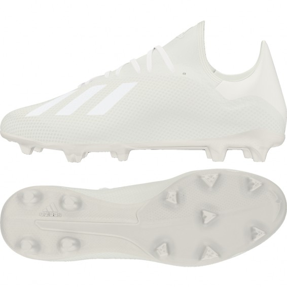 Chaussures football crampons blanches ADIDAS