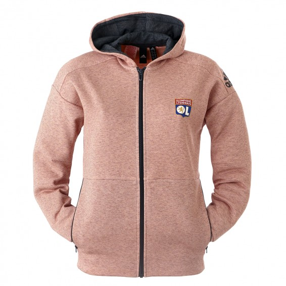 Pink hooded jacket girl OL