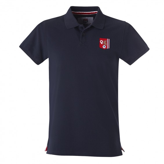 OL navy blue polo shirt with vintage logo