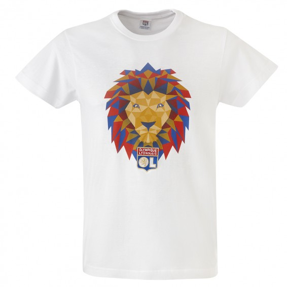 T-Shirt Lion Pop Homme blanc