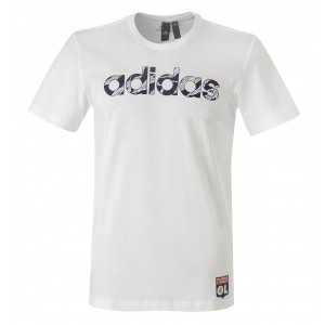 T-Shirt adidas Blanc Linear Camo Adulte - Taille - XL
