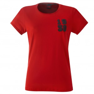 T-shirt Femme rouge 1950 - Taille - XS