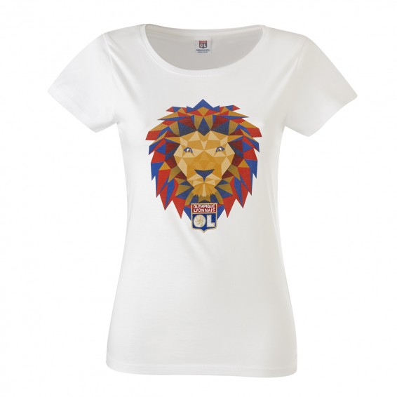 T-Shirt Lion Pop Fille blanc