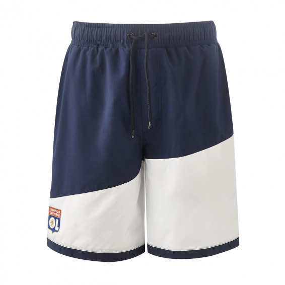 Blue and white swimming shorts
