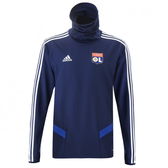 Navy blue Winter Training Sweatshirt OL adidas 19/20