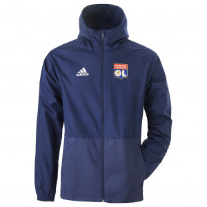 Coupe vent bleu marine OL adidas 19/20 - Taille - XS