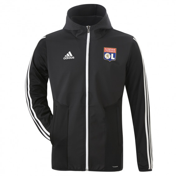 Winter black training vest adidas Olympique Lyonnais 2019/2020