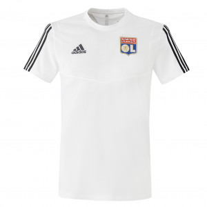 T-shirt de sortie adulte blanc staff OL adidas 19-20 - Taille - XS
