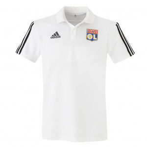 Polo de sortie adulte blanc staff OL adidas 19-20 - Taille - XS