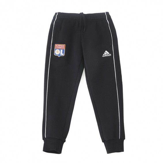 Pantalon détente molleton noir Junior OL adidas 19-20