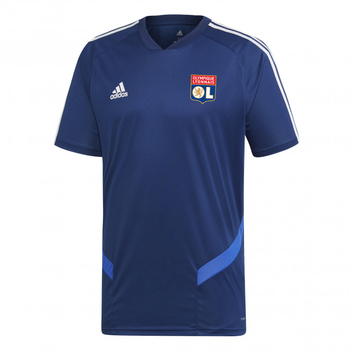 Maillot entrainement bleu marine OL adidas 19-20