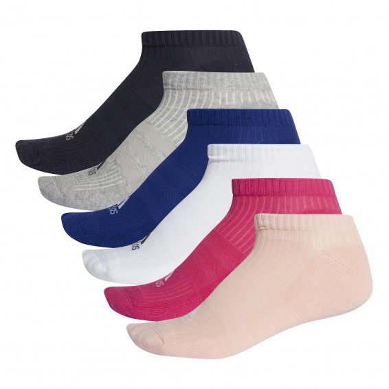 6 pairs of adidas no-show socks