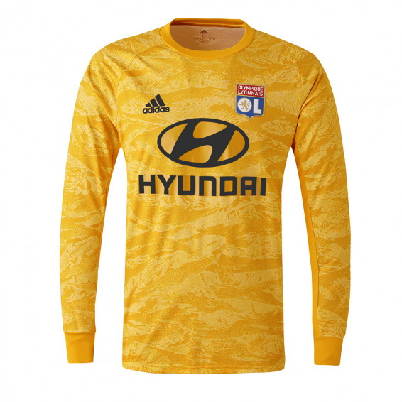 Maillot Gardien manches longues jaune OL adidas 19-20