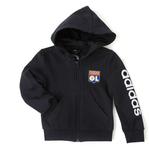 adidas Children's Black Hooded Jacket