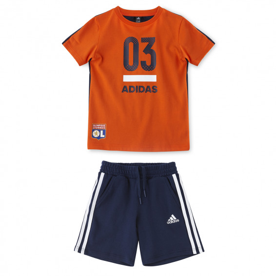Ensemble Bleu/Orange adidas Enfant