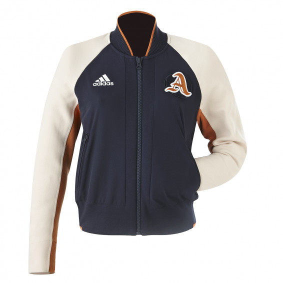 ADIDAS VRCT JACKET BLUE/BEIGE WOMAN
