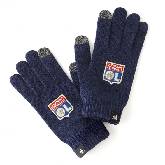 adidas OL Navy Blue Gloves