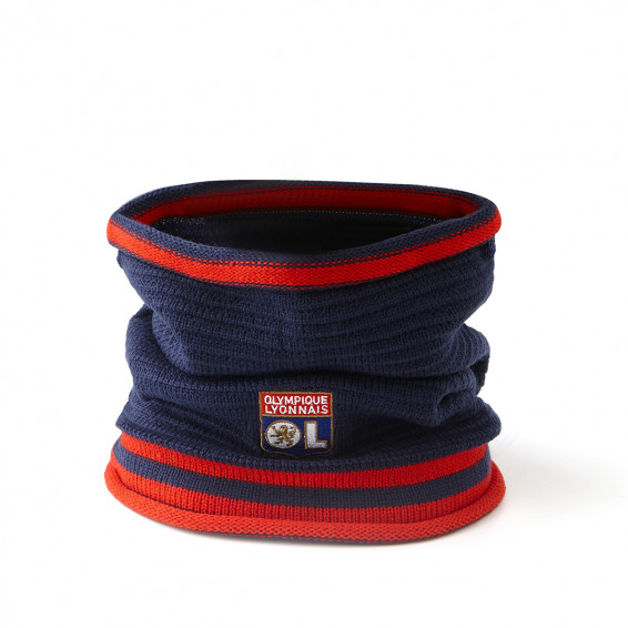 Snood bleu et rouge ol Junior