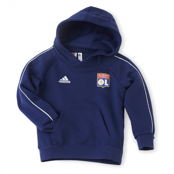 Sweat à capuche molleton bleu adidas junior