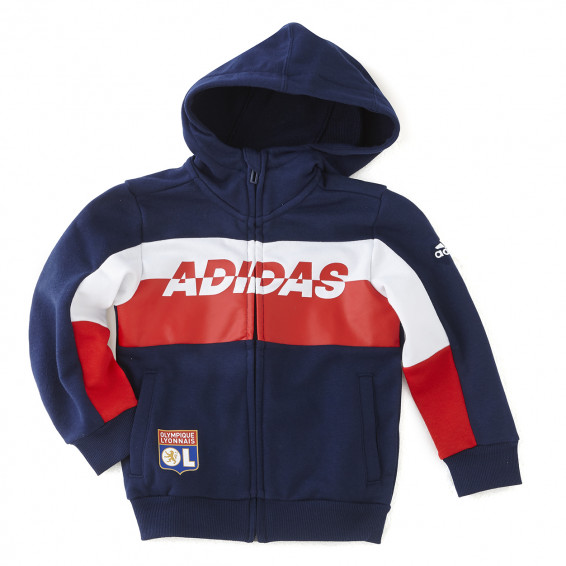 A SOFT SWEATPANTS JACKET FOR LITTLE FOOTBALLERS.