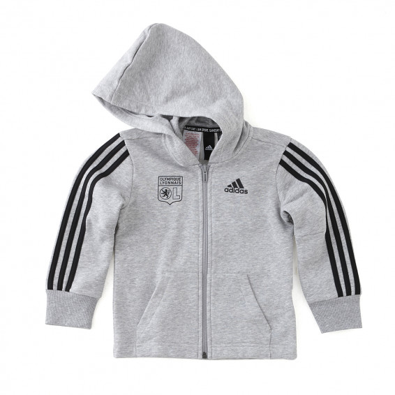 A CLASSIC HOODED JACKET FOR YOUNG ATHLETES.